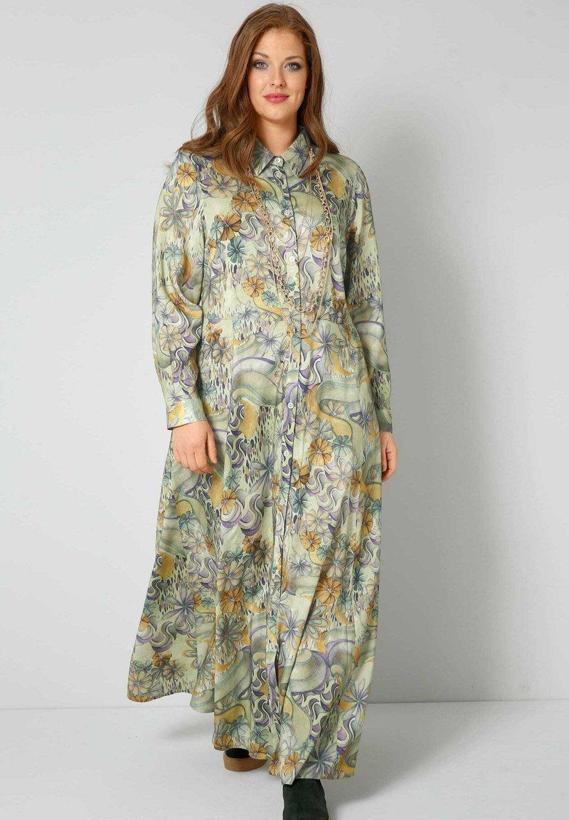 Sara Lindholm - Maxi dress - oliv,flieder