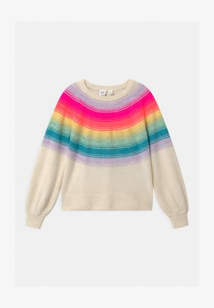 GIRL YOKE STRIPE - Jumper - ivory frost