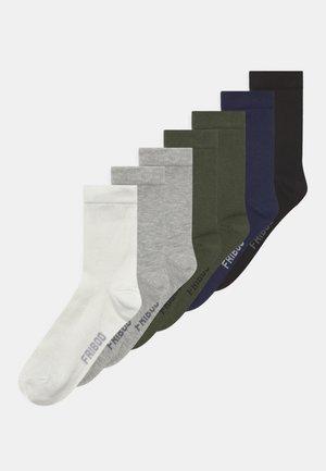 7 PACK - Calcetines - white/khaki/grey