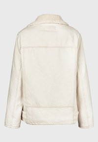 AllSaints - OVERSIZED DENIM BIKER - Denim jacket - white - 3