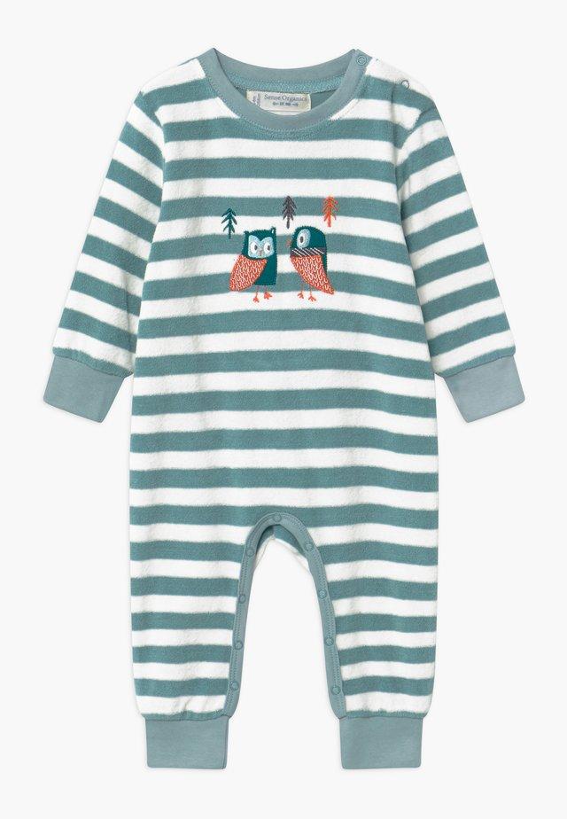 RETRO BABY ROMPER - Pyžamo - stone blue