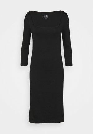 Žerzejové šaty - true black