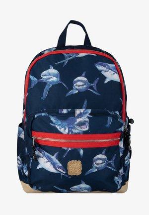 SHARK - School bag - navy