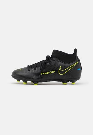 JR PHANTOM GT CLUB DF MG UNISEX - Moulded stud football boots - black/cyber/light photo blue
