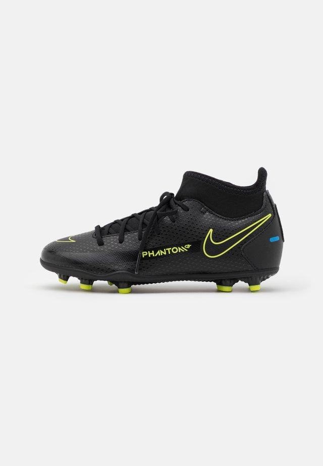 JR PHANTOM GT CLUB DF MG UNISEX - Voetbalschoenen met kunststof noppen - black/cyber/light photo blue