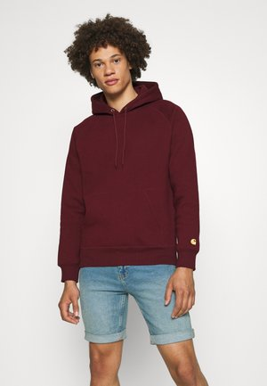 HOODED CHASE  - Hoodie - jam/gold