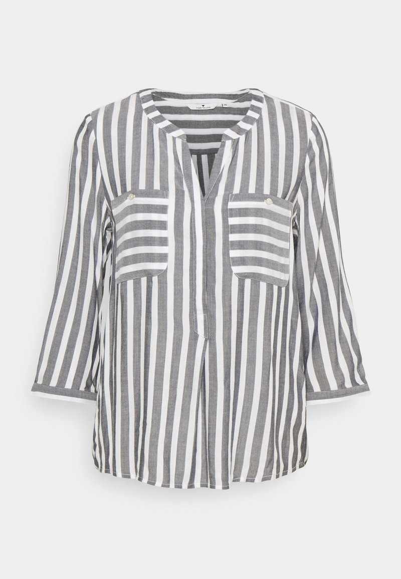 TOM TAILOR - Blouse - offwhite/navy