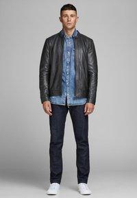 Jack & Jones PREMIUM - Leather jacket - black - 1