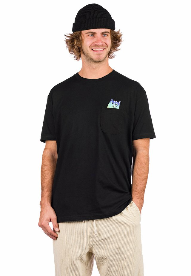 RAINBOW NERM - Print T-shirt - black