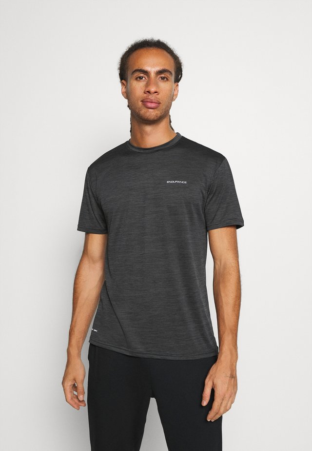 BATANGAS  MELANGE TEE - T-shirt basic - black