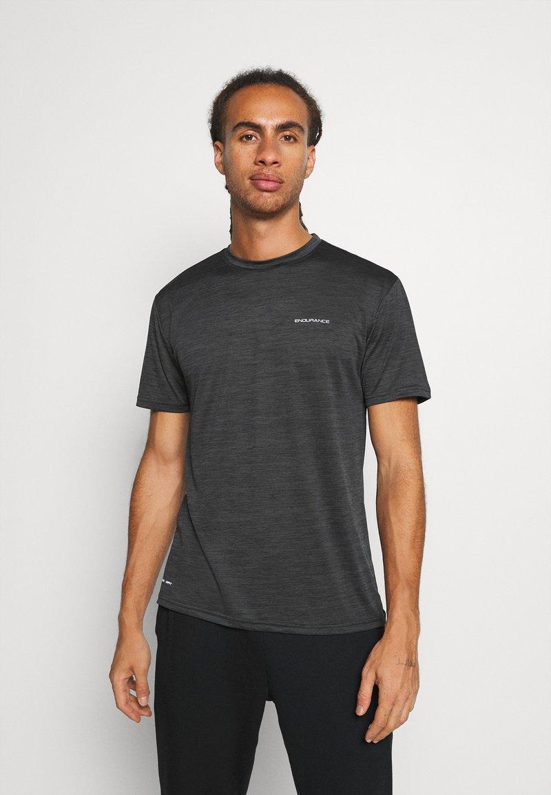Endurance - BATANGAS  MELANGE TEE - Basic T-shirt - black