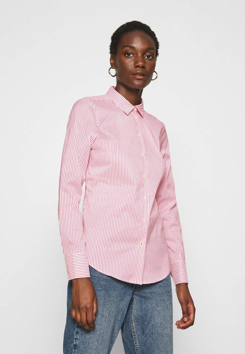 Tommy Hilfiger - SALLY  - Button-down blouse - tabi/radiant carmine