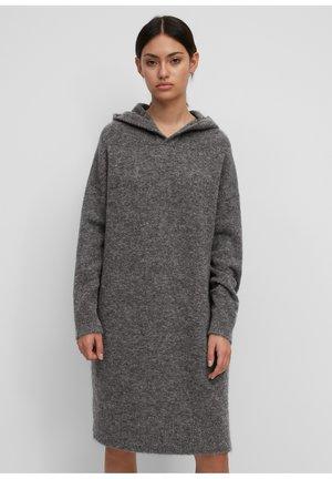 Jumper dress - gray melange