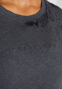 ONLY Play - ONPREBEL FOLD UP TEE - Funktionsshirt - dark grey melange/black - 5