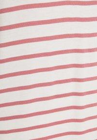 TOM TAILOR DENIM - STRIPED RELAXED TEE - Print T-shirt - rose/white - 2