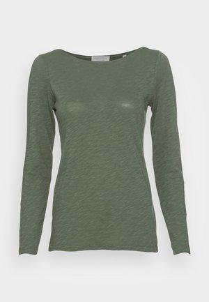 LONG SLEEVE BOAT NECK - Long sleeved top - fresh moss