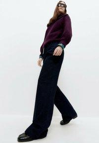 Uterqüe - Bootcut jeans - blue - 4