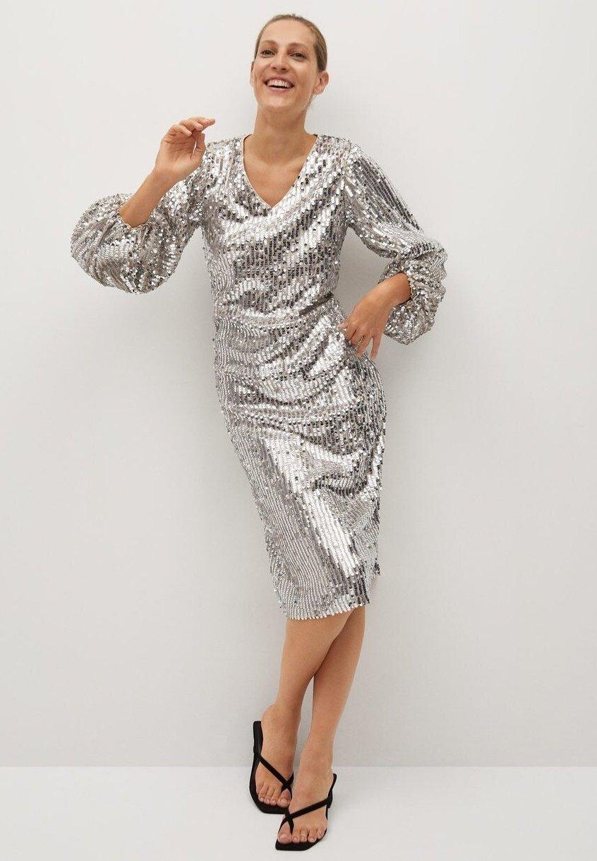 KIM - Cocktailkleid/festliches Kleid - silber