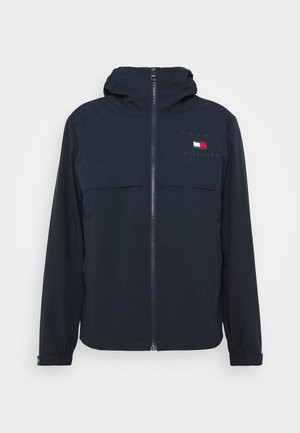 HOODED JACKET - Waterproof jacket - blue