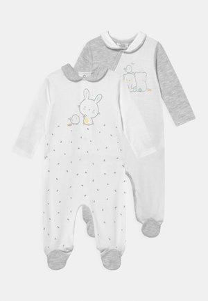 NEWBORN ROMPER WITH COLLAR 2 PACK UNISEX - Sleep suit - glacier gray/bright weight