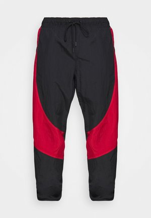 Tracksuit bottoms - black/gym red