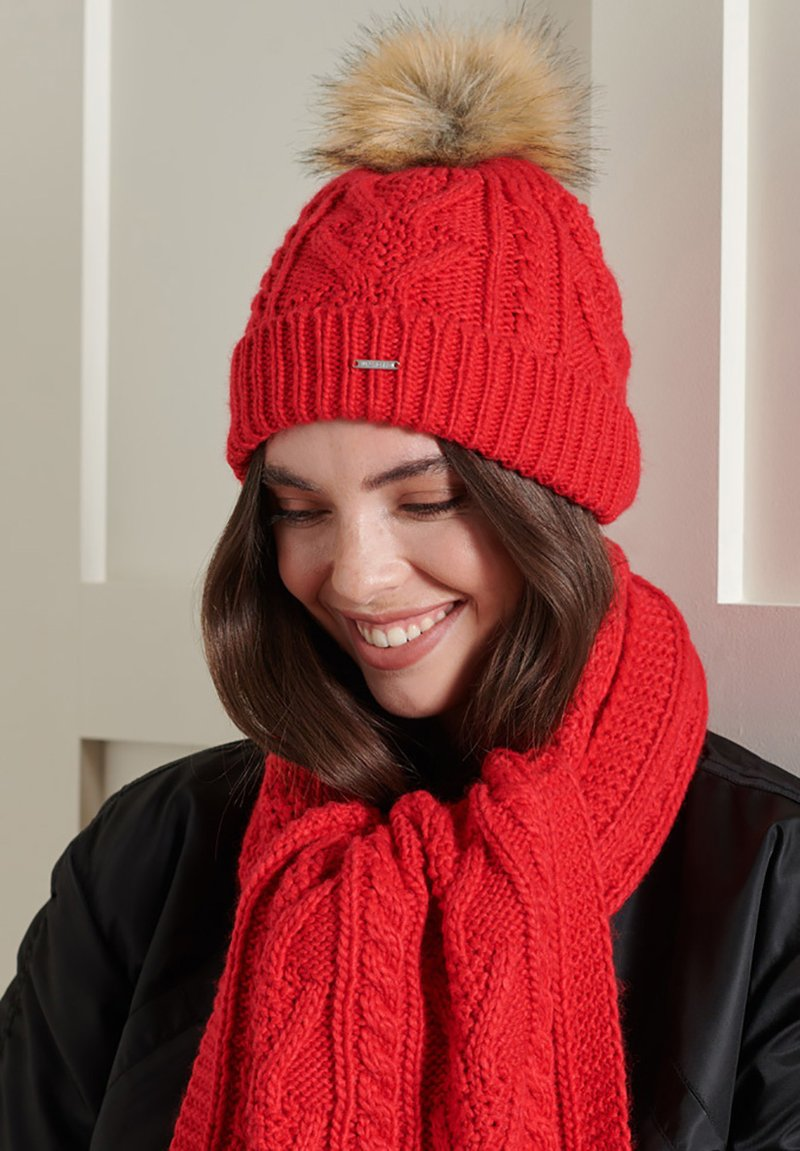 Superdry - LANNAH - Beanie - rouge red