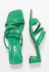 Topshop - DIXIE MULE - Heeled mules - green - 3