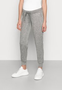 GAP Maternity - UNDERBELLY MIX - Tracksuit bottoms - antique pewter - 0