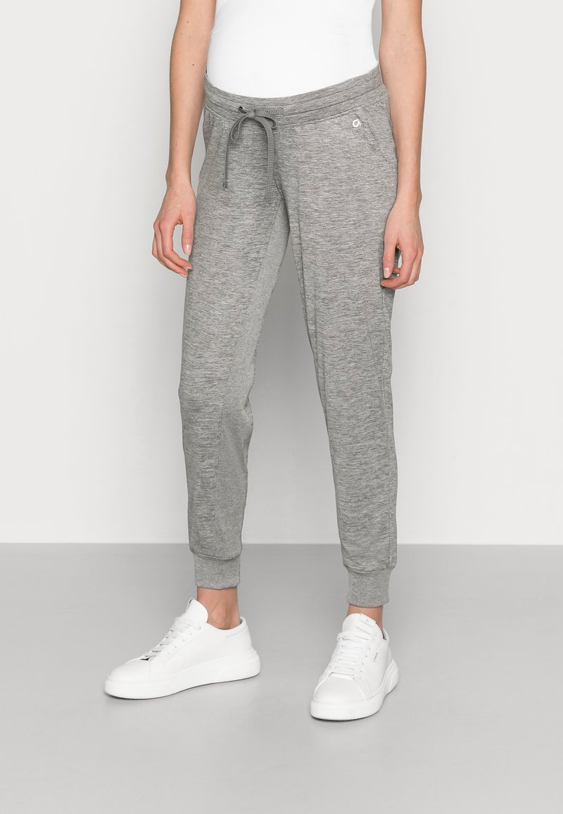 GAP Maternity - UNDERBELLY MIX - Tracksuit bottoms - antique pewter