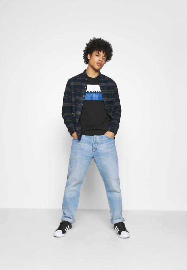 Antony Morato SLIM FIT WITH LOGO - T-shirt z nadrukiem - nero/czarny Odzież Męska JGCI