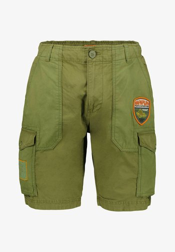NELLI - Shorts - oliv