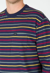Brixton - Long sleeved top - washed navy/lava red - 3