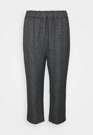 PLAID SUITING PANTS - Trousers - charcoal