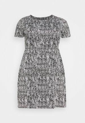 PONTE POCKET SHIFT DRESS - Day dress - black