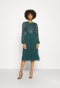 Maya Deluxe - CUT OUT BACK DELICATE MIDI DRESS - Cocktail dress / Party dress - deep teal - 1