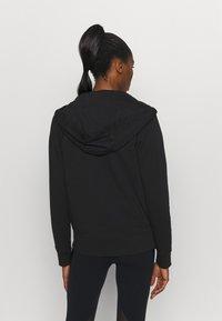 DKNY - TWO TONE LOGO ZIP FRONT - Zip-up sweatshirt - black - 2
