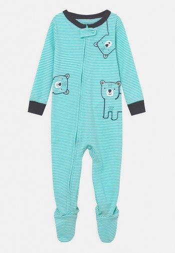 BEAR - Sleep suit - mint/white