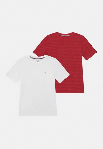 TEE PRINT 2 PACK - Pyjamashirt - primary red/white