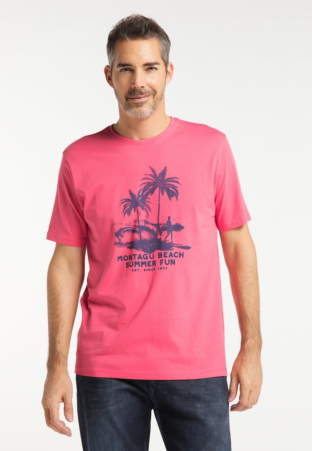 Print T-shirt - coral red