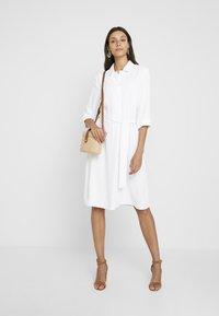 Cortefiel - TEXTURED STYLE DRESS - Shirt dress - white - 1