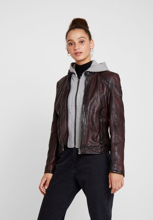 ANGY - Lederjacke - ox red