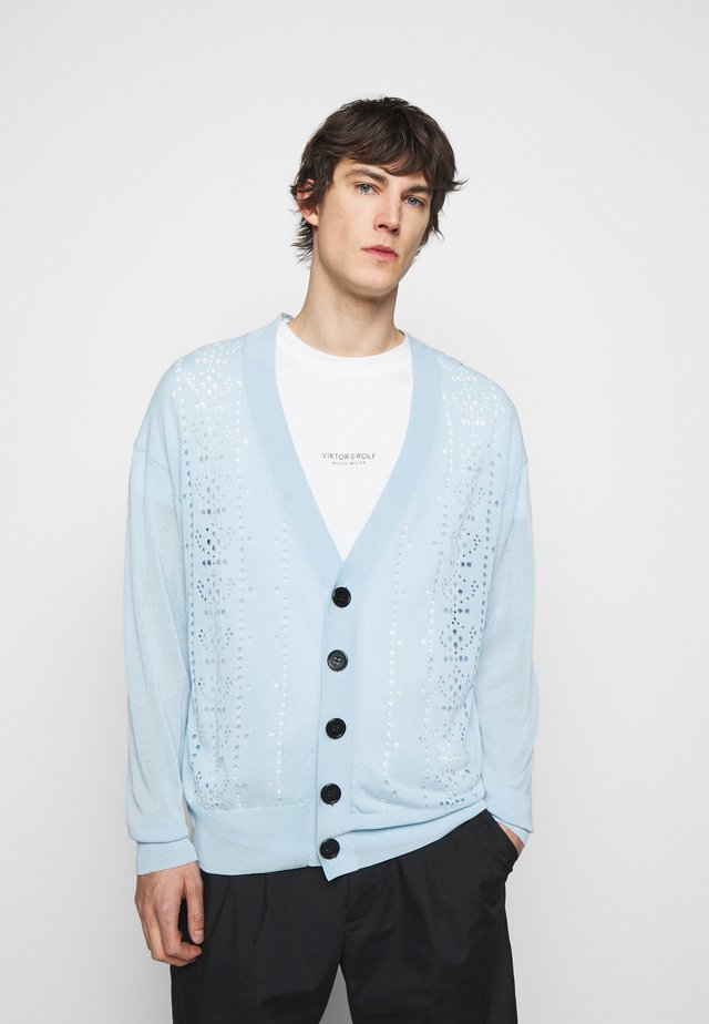 OVERSIZED CARDIGAN - Vest - light blue