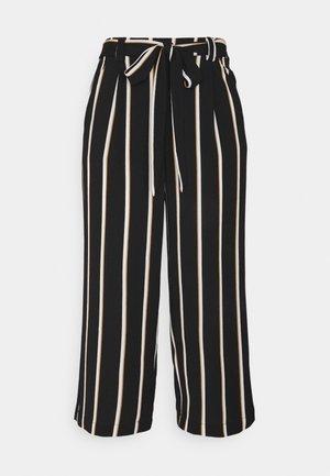 ONLWINNER PALAZZO CULOTTE PANT - Pantalon classique - black/camel