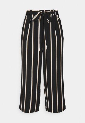 ONLWINNER PALAZZO CULOTTE PANT - Trousers - black/camel