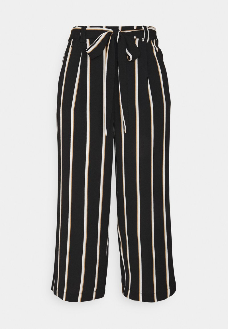 ONLY - ONLWINNER PALAZZO CULOTTE PANT - Bukse - black/camel