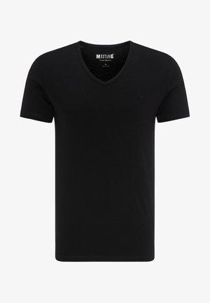 AARON - T-shirt basic - black