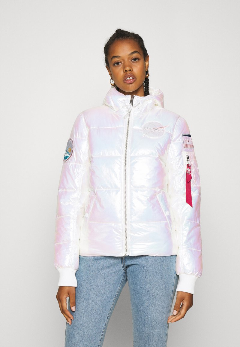 Alpha Industries - HOODED PUFFER NASA  - Winter jacket - white