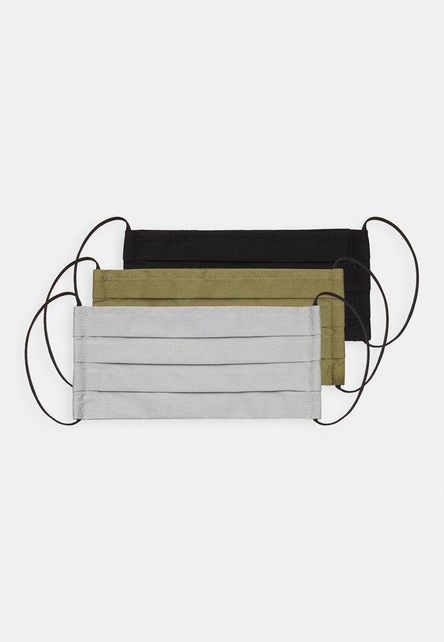 3 PACK - Stoffen mondkapje - grey/black/khaki