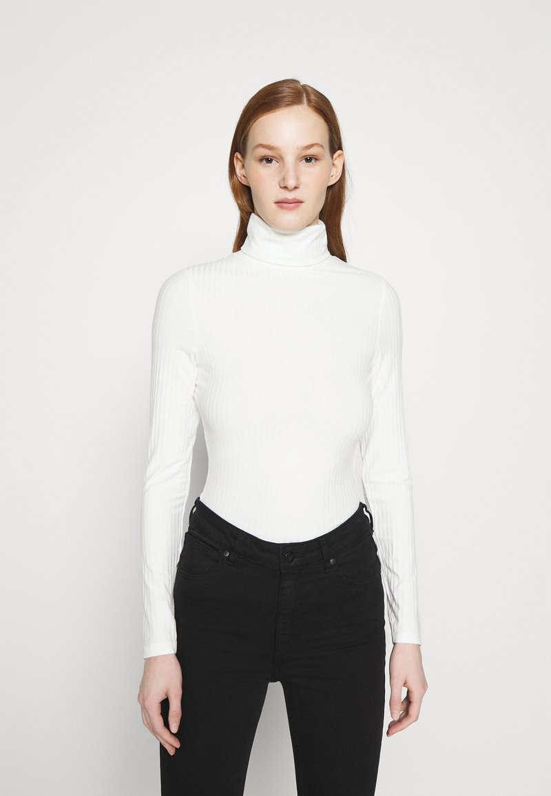 New Look - ROLL NECK - Long sleeved top - off white