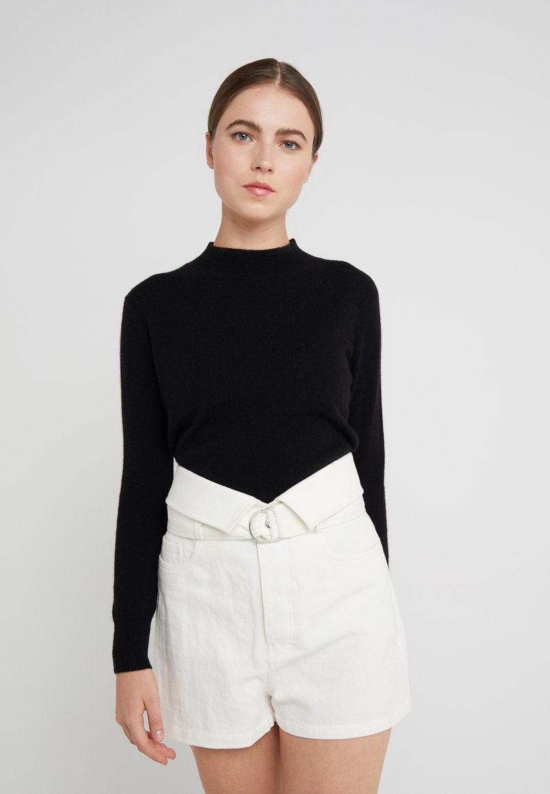 pure cashmere - MOCKNECK  - Jersey de punto - black